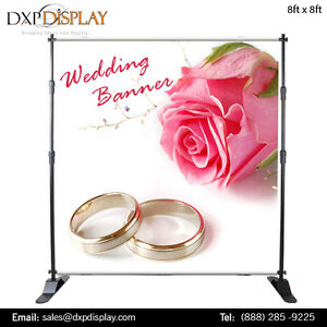 Adjustable Wedding Banner Stand with Graphics