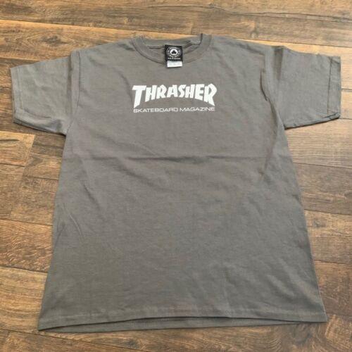 THRASHER Magazine, YOUTH  t-shirt, gray, LARGE, w/defect