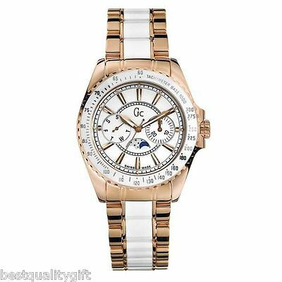 Neu Gc Guess Kollektion Rose Gold S / Stahl + Weiß Multi WATCH-I53000M1-MSR $650