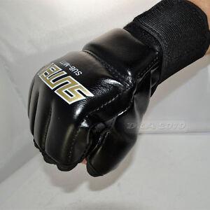 Muay Thai MMA UFC Training Punching Bag Training Speed Mitts Boxing Gloves Black