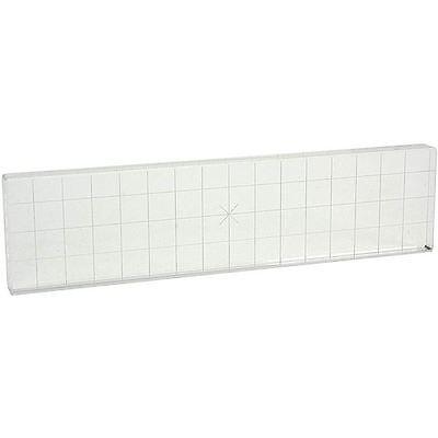 "Apple Pie Memories ACRYLIC STAMP BLOCK w/ Alignment Grid 2"" x 8"" Stamping"