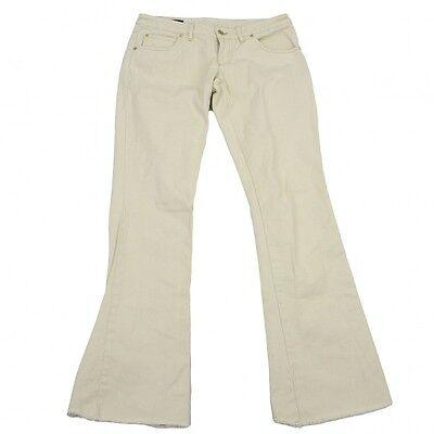 (SALE) GUCCI cotton hem leave pants Size 40(K-19734)