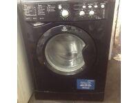 Black Indesit washing machine