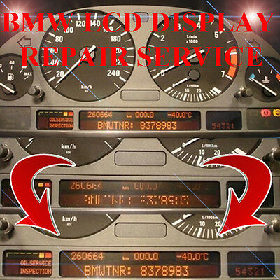 BMW E38 750 750il Speedometer Instrument Cluster LCD Display Screen Pixel Repair