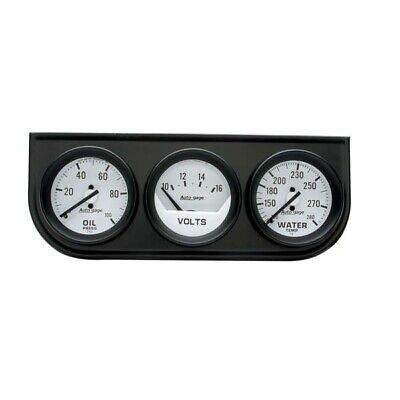 Auto Meter 2327 Autogage Mechanical Oil/Water/Volt 2 1/16 Gauge Panel