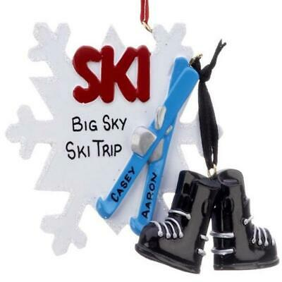 Christmas Personalized Ornaments (Ski Personalized Christmas)