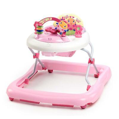 Baby Walker High Seat Back with Activity Station Removable Electronic Toy Pink