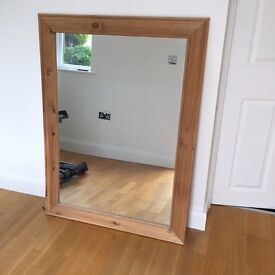 Large Wooden Mirror Shabby Chic/Vintage style