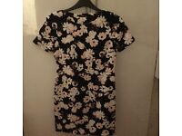 Black with flower prints size 6