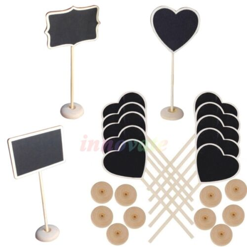 Wholesales 10x Mini Blackboard Chalkboard Rectangle Wedding ...