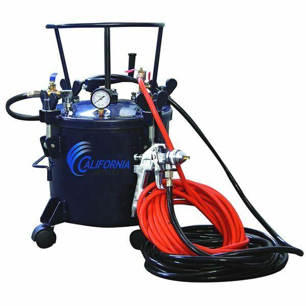 California Air Tools 5-gallon Pressure Pot Paint Tank W/ Hvlp Spray Gun & Hos...
