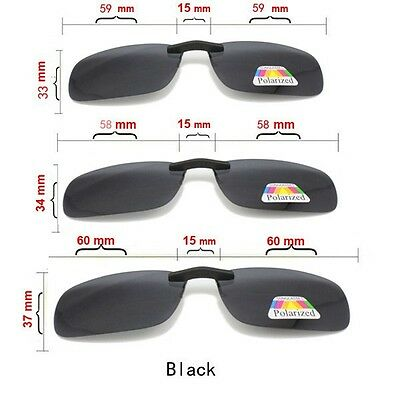 Green Polarized Adult Sunglasses Clip On for Driving Sun Ray UV 400 Protect (Sunray Sunglasses)