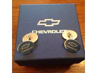 Chevrolet Pair of Boxed Silver Cufflinks