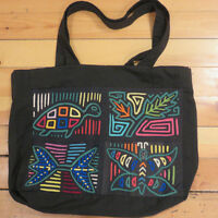 Traditional Cuna Indian mola bag, tote, carry-all - large