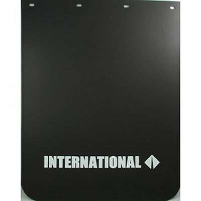 "International Semi-Truck Logo 24"" x 30"" Black Polyurethane Mud Flaps"