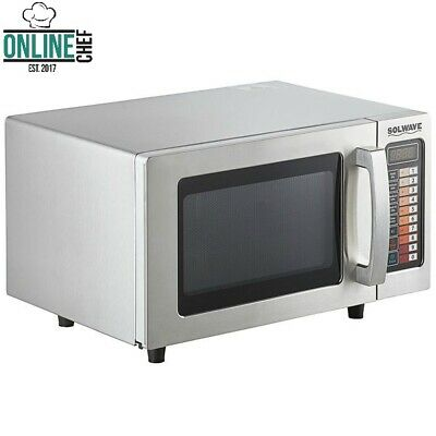 Electric Commercial Microwave Push Button Controls Stainless Steel 120v 1000w