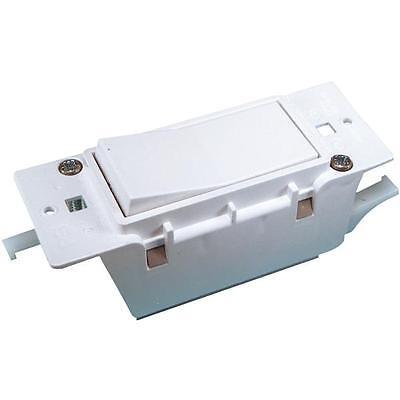 12 Pk U S Hardware Mobil Motor Home RV Single White Electrical Switch E-119C