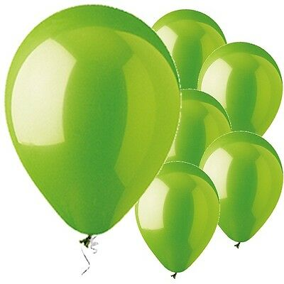 Lime Green Latex Balloons 12