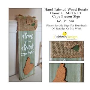 Hand Painted Cape Breton Wooden Sign