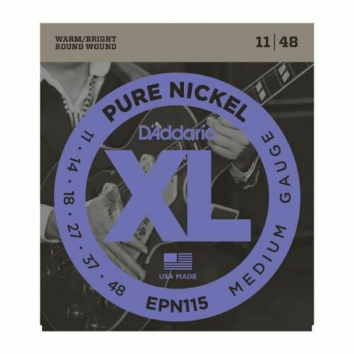 D'Addario EPN115 Pure Nickel Electric Guitar Strings, Blues/