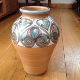 Langley Vase with abstract swirl pattern