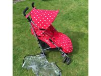 Limited Edition Red Polkadot Cath Kidston Maclaren Stroller Buggy Pushchair