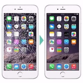 IPHONE CRACKED SCREEN REPAIR UNBEATABLE CHEAPEST OFFER!IPHONE7£41,IPHONE7+£55IPHONE6S£32,IPHONE6G£22