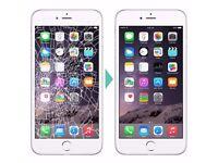 IPHONE CRACKED SCREEN REPAIR UNBEATABLE CHEAPEST OFFER!IPHONE7£41,IPHONE7+£55IPHONE6S£32,IPHONE6G£22