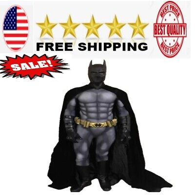 EXCLUSIVE Batman Costume Suit With Muslce Padding Inside for kids adult men NEW - Padded Batman Costume