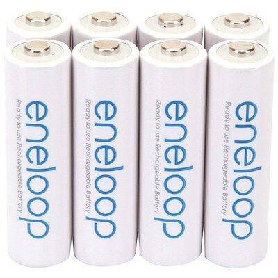 Used, PANASONIC BK-3MCCA8BA eneloop NiMh Rechargeable Batteries (AA; 8 pk) for sale  Shipping to India