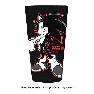 Sonic the Hedgehog Red & Black Outline Pint Glass 16 Oz [Surreal Ent.] (Hedgehog Outline)