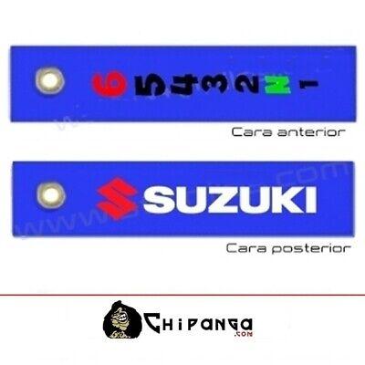 Llavero de tela Suzuki moto marchas 1N23456 no pegatina camiseta