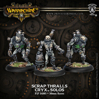Warmachine: Cryx Scrap Thrall Solo (3) PIP 34003