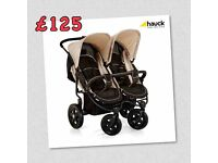 BRAND NEW HAUCK ROADSTER DUO SIDE BY SIDE DOUBLE BUGGY PRAM PUSHCHAIR FROM BIRTH