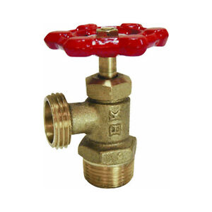 TWO NEW - DEUX NEUF - Brass Male Boiler Drain Valve 1/2""