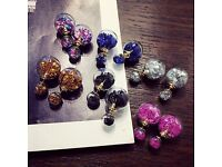 newly 4 paris of Super nice ear rings in different colour to sale