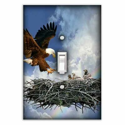 Eagle's Nest Decorative Single Toggle Light Switch Plate Cover for sale  Stafford