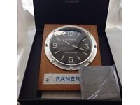 panerai wall clock ..solid wood surround..