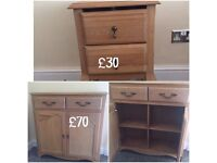 Next sideboard and bedside table