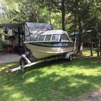 """16"""" silvan boat with 2 down riggers"""