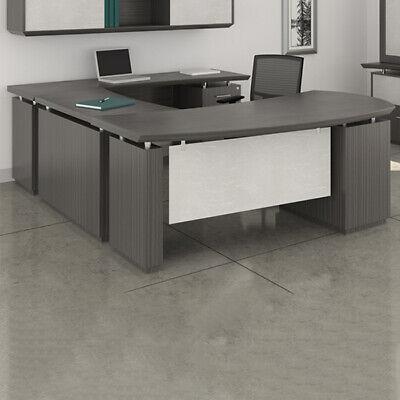 Modern U-shaped Executive Desk With Optional Hutch Cabinet New