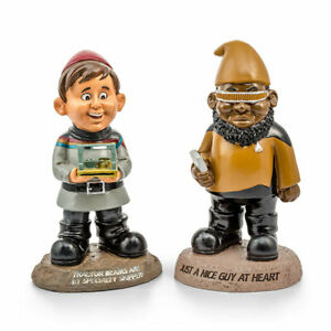 Brand New Star Trek TNG Garden Gnomes