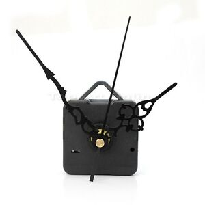 Black-Quartz-Clock-Movement-Mechanism-Repair-DIY-Tool-Kit-Black-Hands-Hot