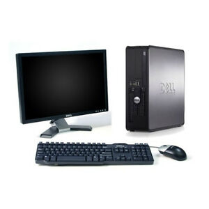 DELL OPTIPLEX 380 WITH 19 INCH WIDE MONITOR AND KEYBOARD $119.99
