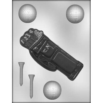 Golf Balls, Tee's & Bag Sports Chocolate Candy Mold CK #6805 - New - Chocolate Sports Balls