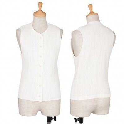 ISSEY MIYAKE Crepe vest Size M(K-37502)