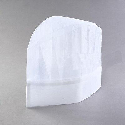 20pcs Professional Disposable White Paper Chef Hats Wholesale Pack