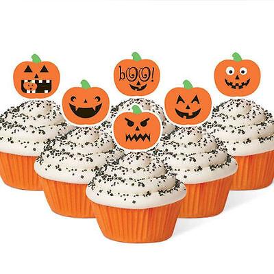 Jack-O-Lantern Halloween Fun Pix 12 ct from Wilton #0264 - NEW (Fun Halloween Cupcakes)