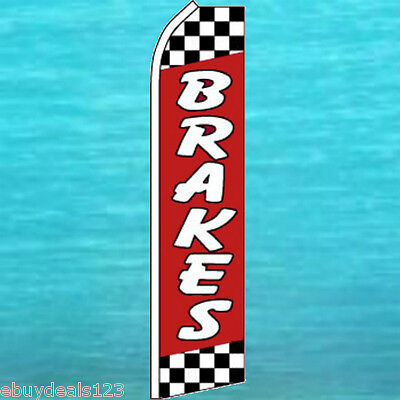 Brakes Red Feather Flutter Flag Auto Repair Swooper Advertising Sign Bow Banner