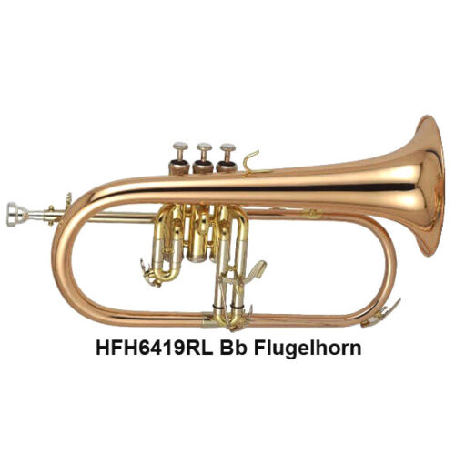 DC PRO MODEL 6419RL Copy of Bach FH600 Bb rose brass Flugelhorn list $1,988.00